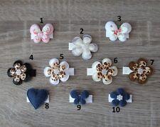 Baby Haarspange Blume Leo Jeans Look Herz Schmetterling