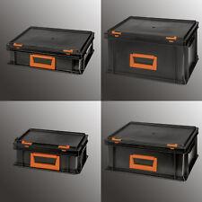 Stapelkiste Systemkoffer Transportkiste Lagerkiste stabil mit Deckel Kiste