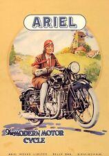 'ARIEL MODERN MOTORCYCLE', Metal Plaque/Sign Pub, Bar, Man Cave Novelty Gift
