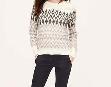 Ann Taylor LOFT Brushed Fair Isle Sweater Size S, M, L, XL NWT Whisper White