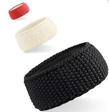Ladies Womens Headband Suprafleece Waffle Knit Winter Ski Ear Head Warmer