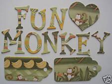 "Creative Imaginations *MONKEY BANANA* Chipboard Letters  1.5"" Tall"