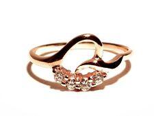 Damen Ring Agnes, Metall-Legierung, Gold plattiert, weiße Zirkonia