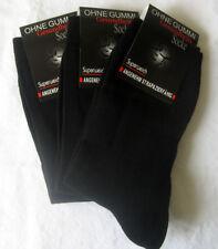 3 Paar Herrensocken Socken ohne Gummi 90% Wolle schwarz 39 bis 46
