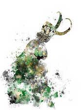 Impresión de arte, Loki Thor ilustración, los Vengadores, Marvel, Pared Arte, villano