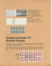 """#1948a Nondenom """"C"""" Booklet Usps #8128 Souvenir Page"""