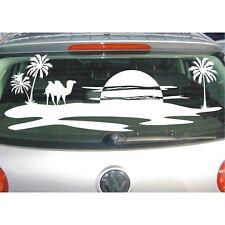 Aufkleber Landschaft  Wüste Kamel Kamele Palmen Oase Sonne Sahara Sticker Folie