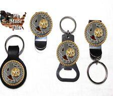 Custom Texas Rope and Star Bottle Opener Key Fob Key Holder Money Clip
