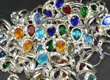 Garnet,Topaz & Mix Gemstone 925 Sterling Silver Overlay Wholesale lot Rings