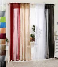 Gardinen Vorhang Stores mit 50mm Kräuselband transparent Dekoschal Voile #305