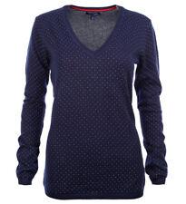 Tommy Hilfiger V-Neck Damen Pullover Pulli Strickpullover gepunktet Größe XS-XXL