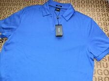 Nuevo Hugo Boss selección del diseñador azul a la medida Línea Algodón Camiseta Polo Mediano