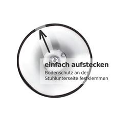 Barhocker-Bodenschutz| Qualitätsgummi | BRUCHSICHER | Kratzschutz, universell