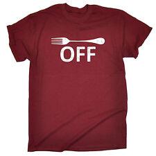 Forchetta OFF Design Da Uomo T-shirt Tee Compleanno Maleducato Divertente Cucina cottura cattivo