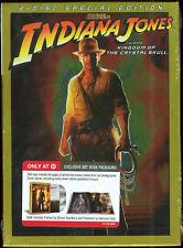 Indiana Jones the Kingdom of the Crystal Skull DVD New & Sealed + Bonus Art Book