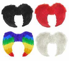 Adults Fancy Dress Feather Wings Unisex Gay Pride Angel Devil Costume Accessory