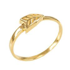 Ladies Women Yellow Gold Archery Midi Cupid Arrowhead Wrap Ring