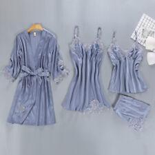 Women's Pajamas Sets Satin Silk Babydoll Lingerie Nightdress Homewear Sleepwear