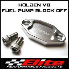 HOLDEN V8 253 304 308 BILLET ALLOY FUEL PUMP BLOCK OFF (SILVER)