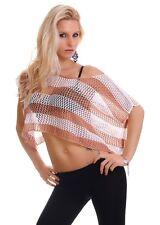 Women's Party Club Wear Net Dentelle Chemisier Shirt Top Wear Taille UK 8 - 10