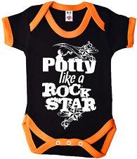"""Dirty Fingers """"Potty like a Rock Star"""" Baby Boy Girl Rock Cool Bodysuit Gift"""