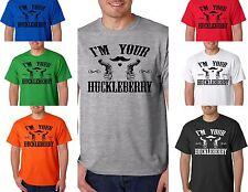 I'm Your Huckleberry T-Shirt Tombstone Western Doc Holliday Wyatt Earp Revolver