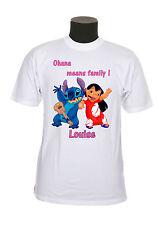 tee-shirt enfant lilo et stitch personnalisable prénom au choix réf 90