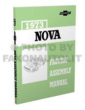 1973 Chevy Nova Factory Assembly Manual 73 Exploded Views Chevrolet LN Custom