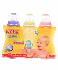 Nuby 3-Pack Non-Drip Standard Neck Bottles (10 oz.)