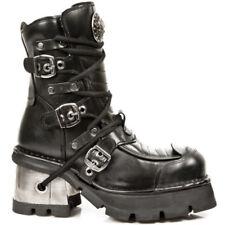 New Rock Ankle Boots M.990-S1 Zwart Leer -  - Gothic - Rock - Goth - Alternative
