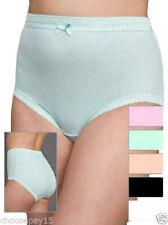 12 Women Girls Ribbed Underwear Briefs Knickers 100% Cotton Comfy Everyday Wear