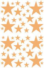 52 TAN CARMEL STARS VINYL BEDROOM WALL DECALS STICKERS