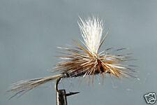 10 x Mouche Sèche Adams Parachute H12/14/16 truite mosca fliegen trout fly