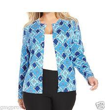 Charter Club women Blue Swirl Print Super Soft Cardigan sweater XS S M L XL NEW