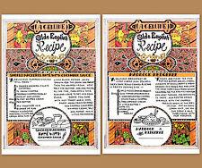 2x Old English Recipes Postcard Haddock Kedgeree Smoked Mackerel Pate' Cook Book