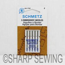 5PK SCHMETZ EMBROIDERY SEWING MACHINE NEEDLES