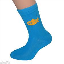 Cute Yellow Submarine Design Childrens Socks - will suit Boy or Girl kids socks