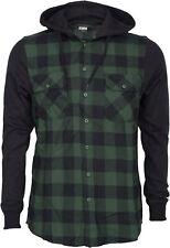 Urban Classics CHECKED Flanell Sweatshirt JACKE Lumberjack HOODIE GR Rockabilly