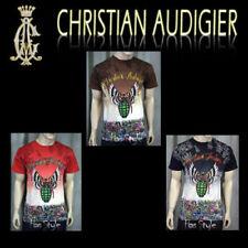 Christian Audigier Platinum T shirt Grenade stones