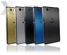 Metal cepillado de la piel para Sony Xperia Z1 & Z1 Compact calcomanía Wrap Funda