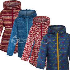 Childrens Boys Girls Hooded Rain Coat Printed Kag Jacket Parka Mac Pakamac