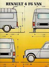 Renault 4 F6 Van 1983-84 UK Market Sales Brochure
