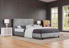 Crushed Velvet Modern Bed Frame Mattress 3ft Single 4ft6 Double or 5ft King Size