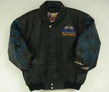 Nascar Easy Care Motor Sports Leather Jacket New Black