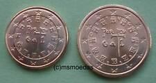 Portugal 1 Cent + 2 Cent Euro Münzen Euromünzen coins moedas Auswahl Jahre