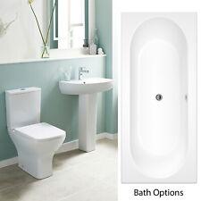 Premier Ava Bathroom Suite Close Coupled Toilet, 1 Tap Hole Basin & Bath Options