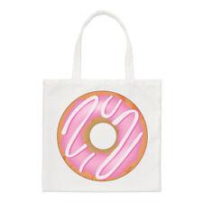 Pink Strawberry Glazed Doughnut Small Tote Bag - Food Funny Shoulder