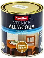 Syntilor Vernice All'Acqua Aquarethane® Aspetto Opaco Interno Inodore 0,25 litri