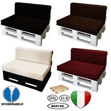 Cuscino per bancali divano pallet di legno varie misure Ecopelle Idrorepellente