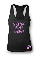 COMPRAS Is My Cardio Camiseta de Gimnasio Mujer Espalda Nadador Ejercicio